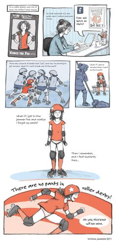 Victoria Jamieson is a illustrator of children's books AND a derby girl. Go, WINNIE THE POW!
