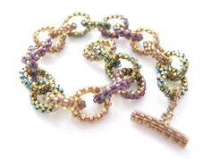 08d773855 Beaded Chain Bracelet Šperky, Drobné Korálky, Korálkové Šperky, Dúhové  Náramky, Práca S