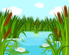 Pond scene vector illustration Background Clipart, Landscape Background, Unicorn Art, Color Pencil Art, Stock Art, Landscape Illustration, Vector Design, Vector Free, Vector Clipart