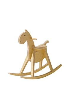 """9. sixKid Rocking Horse by Beck to Nature – """"What child doesn't love a classic rocking horse they will cherish for a lifetime? This beautifully designed wooden rocker is treated with only natural materials and we love that it doubles as a toy and nursery decor."""""""