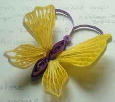 """Paper Fascination: Quilled 3D Butterfly """"Prototype"""""""