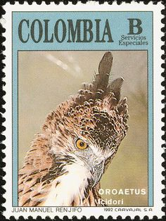 Colombia bird stamps - mainly images - gallery format