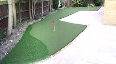 Gerry in Camberley is a huge golf fan and wanted a Trulawn home putting green installation. We personalised the golf green with undulations. Home Putting Green, Golf Green, Golf Courses
