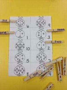 Ladybug spot counting  Math Common Core K.CC.3 hollygotigers
