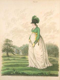 Green spencer. 1798? Heideloff's gallery of fashion