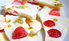 Passionfruit Yoghurt Bark (low FODMAP, lactose-free)