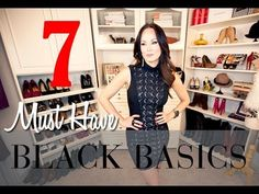 7 MUST HAVE BLACK BASICS by Tiffany Hendra || Pencil Skirt, Blazer, High Waisted Trousers + MORE!