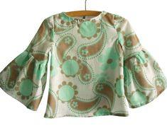 60's Blouse Pattern/ Toddler top pattern/ Girls Blouse Pattern/ Childrens Sewing Pattern.Size 2T,3T,4T,5T,6