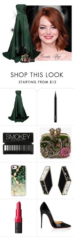 """""""Celebrity Style: Emma Stone"""" by allyssister ❤ liked on Polyvore featuring Jason Wu, MAC Cosmetics, Alexander McQueen, Casetify, Bobbi Brown Cosmetics and Christian Louboutin"""