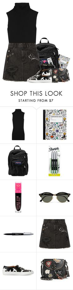 """""""School Girl Daze #2"""" by hollowpoint-smile ❤ liked on Polyvore featuring Rick Owens, JanSport, Sharpie, Ray-Ban, Marc Jacobs, Givenchy and Coach 1941"""