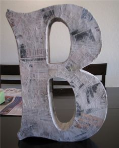 diy paper mache letters using a cereal box!