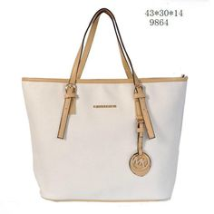 Michael Kors Leather Chain Tote Vanilla MK 1010