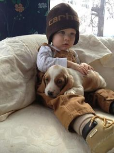 So cute! Baby basset and little boy. Animals For Kids, Baby Animals, Cute Animals, Cute Kids, Cute Babies, Baby Kids, Precious Children, Beautiful Children, I Love Dogs