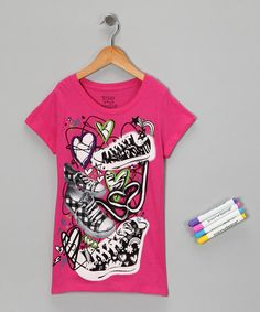 AWESOME!!! Hot Pink Sneaker Doodles Coloring Tee from Bittersweet on #zulily!