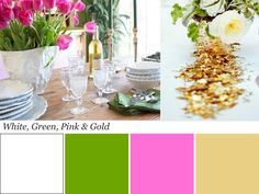 Color vs. Color: White, Green, Pink and Gold Color Palette | Color Palette and Schemes for Rooms in Your Home | HGTV
