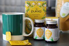 Hälsosam gurkmeja i Pukkas nya teer och kosttillskott - Hannah Sjöström