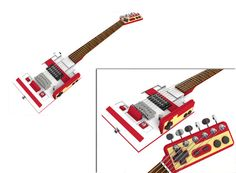 Nintendo Famicom-Shaped Guitar