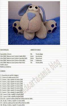 "con A de artesanía: Amigurumi perrito Leopoldo ""Jednostki z: Leopoldo szczeniąt amigurumi"", ""Maybe translate pattern?"", ""Ideas que mejoran tu vida"" Crochet Doll Pattern, Crochet Patterns Amigurumi, Amigurumi Doll, Crochet Dolls, Chat Crochet, Love Crochet, Easy Crochet Animals, How To Start Knitting, Doll Patterns"