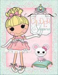 Lalaloopsy Cinder Slippers Printable Princess Doll Wall Art by onelovedesignsllc on Etsy, $5.00