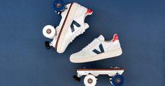 Pour l'été 2017, Veja et Flaneurz s'allient et révolutionnent le patin à roulettes en proposant d'adapter votre paire de basket sur une plateforme de roller.    Focus : veja et flaneurz, basket, sneaker, streetstyle, roller, baskets à roulettes