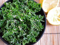 tahini kale  link to recipe: http://budgetbytes.blogspot.com/2011/12/tahini-kale-salad-209-recipe-052.html