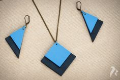 Simplicity Leather Set of Pendant and Earrings £30.00
