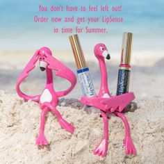 LipSense is amazing for summer because it #protectsyourlipsfrom the sun! #LipSense forms a mechanical shield, keeping your lips looking young! #lipsenseforsummer #liquidmakeup #firstqueenofsenegence #summerlipsense #lipsensesunprotection #flamingos #getlips #pinkflamingos