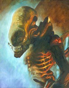 Don Marquez Alien Alien Film, Alien 2, Predator Alien, Saga Art, Giger Alien, Alien Covenant, Aliens Movie, Adventure Time Art, Cool Cartoons