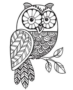 "{Single Count} Unique & Custom by 4 Inches) ""Tree Branch & Wild Pattern Owl"" Rectangle Shaped Genuine Wood Mounted Rubber Inking Stamp Owl Coloring Pages, Coloring Books, Fall Coloring, Owl Patterns, Embroidery Patterns, Owl Art, Digi Stamps, Mandala Art, Doodle Art"