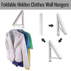 Foldable Hidden Hooks Coat HAT Clothes Robe Holder Rack Hook Wall .