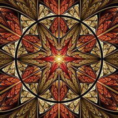 Autumn Star fractal by Ross Hilbert at fractalsciencekit.com _ would make a gorgeous quilt pattern.