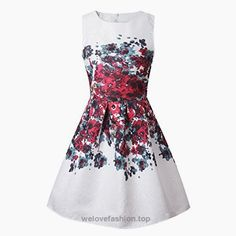 ZAY Women Porcelain Print Flare Sleeveless Vintage Floral Dress S 5015hong  BUY NOW     $16.99    ZAY Womens White Contrast Blue Porcelain Print Flare Sleeveless Vintage Floral Dress   Important Note: We Improve The Size Since 15/1/2017,Please Follow Our Size Lis ..