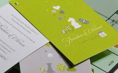 Original Custom Wedding invitation  Faire-part sur mesure Jeux de société Création sur mesure L'Atelier d'Elsa