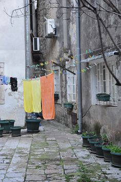 Croatia, hanging laundry by Jill.Gerstenberger, via Flickr