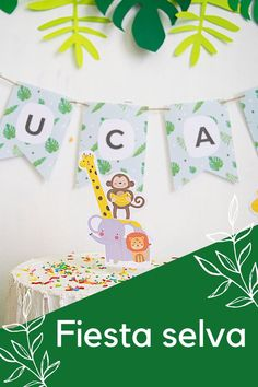 Jungle Theme Birthday, Baby Boy 1st Birthday Party, Safari Theme Party, Dinosaur Birthday Party, 3rd Birthday Parties, Jungle Theme Decorations, Hawaiian Party Decorations, Diy Birthday Decorations, Maquillaje Halloween