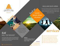 brochure design for Sai Hill Top Resort