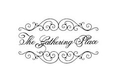 The Gathering Place - wall vinyl decal - family room decal - dining room decal - kitchen decal - 23 x 13