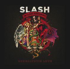 """Slash już dziś w Katowicach!   A tu okładka jego ostatniej płyty """"Apocaliptic Love"""" :)"""