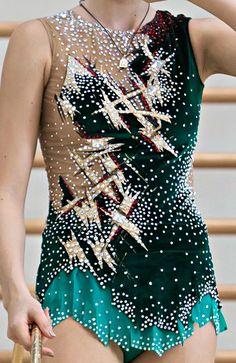 Rhythmic gymnastics leotard close-up (photo by E.Matveev)