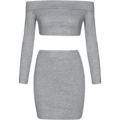 Yoins Grey Off Shoulder Top & Mini Skirt Co-ord (€19) ❤ liked on Polyvore featuring skirts, mini skirts, dresses, bottoms, grey, gray mini skirt, mini skirt, gray skirt, short skirts and grey skirt