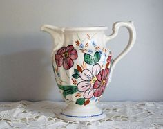 1950s Floral Pitcher Blue Ridge Southern by CalloohCallay on Etsy
