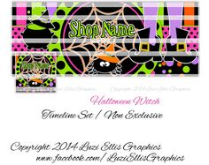 Halloween Witch Spider Facebook Timeline by LuziEllisGraphics Printed Ribbon, Facebook Timeline, Fb Covers, Collage Sheet, Circles, Banners, Avatar, Spider, Custom Design