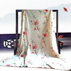 Wide Japanese style cotton fabric Magnolia by Watermelonbaby2013
