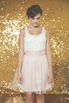 WANT!!! Sparkle Tulle Skirt  & Lace top- The Ava Skirt - Made to Order