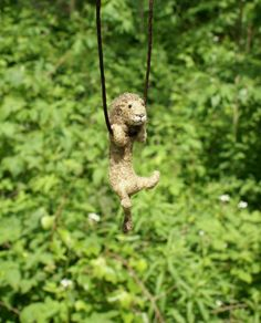Tiny Lion Necklace or Sculpture made to order  by motleymutton