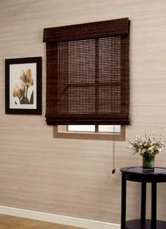 bamboo roman shade dark chocolate walmart