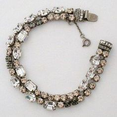Amazon.com: Double Strand Vintage Crystal Bracelet: Sorrelli: Jewelry
