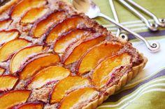Tenina's roasted nectarine and plum crumble