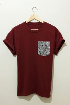Get this shirt on @Emilio Sciarrino Foster or see more #t-shirt #shirt #frocket #maroon #pocket_t_shirt