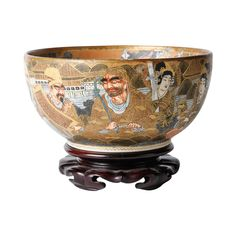 A Very Finely Decorated 19th Century Meiji Period Satsuma Bowl.